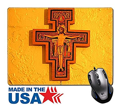 """MSD Natural Rubber Mouse Pad/Mat with Stitched Edges 9.8"""" x 7.9"""" IMAGE ID: 4121815 San Damiano - Franciscans San Damiano"""