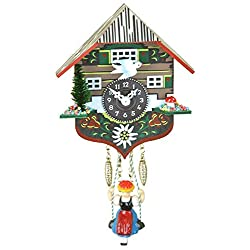 Quartz Cuckoo Clock with Swinging Girl