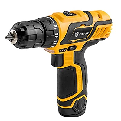 DEKOPRO DC New Design Mobile Power Supply Lithium Battery Cordless Drill Driver Power Tools Mini Drill Electric Dril
