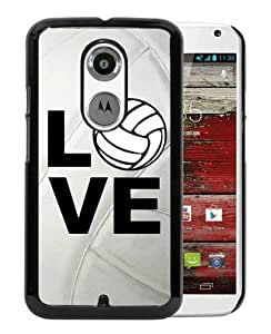 Newest Motorola Moto X 2nd Generation Case ,Volleyball Keep Calm Play On Volleyball Player Black Motorola Moto X 2nd Generation Cover Case Fashionable And Popular Designed Case Good Quality Phone Case