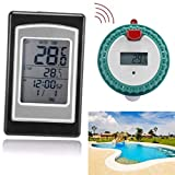 Sunshinehomely Wireless Remote Floating Thermometer Swimming Pool Waterproof Hot Tub Pond Spa