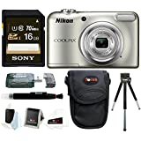 Nikon Coolpix A10 Digital Camera 16GB Card Bundle