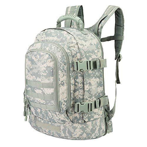 Expandable Adjustable Backpack With Waist Strap 39 - 64 L Large 3 Day Military Tactical Rucksack for Outdoors Hiking GYM Camping Trekking Bug Out Durable Comfortable and Lightweight Molle Assault Bag