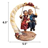 Anniversary Gifts Elderly Couple Figurines Loving Old Age Life Resin Home Decorations