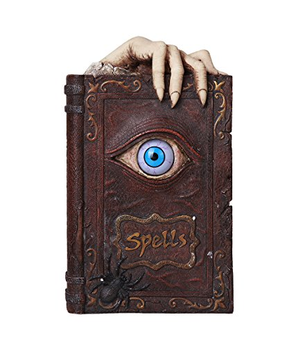Pacific Giftware Evil Eye Book of Spells Resin Money Bank Halloween Decor Gothic Collectible 8.25 -