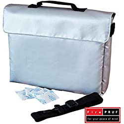 Certified Fireproof Bag for Documents, Money, Office Files & Memory Cards - Both Fire and Water Resistant, Ideal for Evacuation and Emergencies - 100% Fire Protected Zipper, Patent Pending