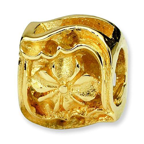 Reflections SimStars 14 carats Perle JewelryWeb Charm Trèfle
