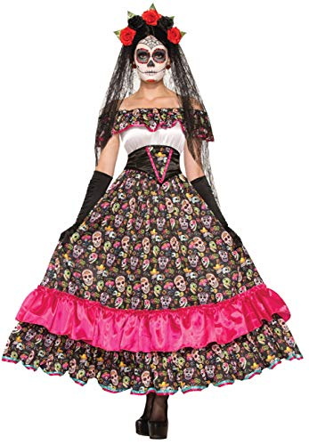 Forum Novelties Women's Day Of Dead Spanish Lady Costume, Multi, -