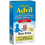 Advil fever infants concentrated drops, white grape flavored Dye Free - 0.5 Oz