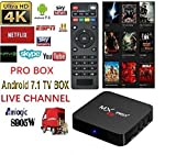 [2018 New Arrive] Pro Box Latest plugin use USA version KD 17.6 Android 7.1 MX PRO TV Box Streaming Media Player 4K/64Bit/3D