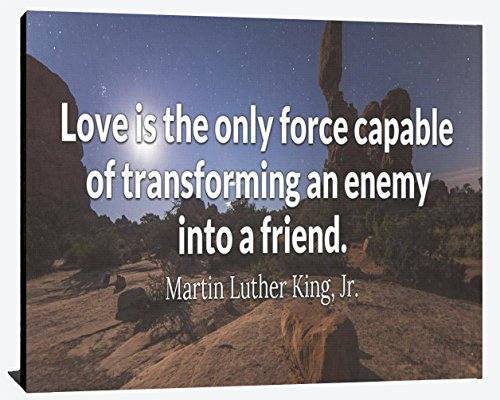 Love Only Force Transforming Enemy Into Friends Martin Luther King Jr MLKJ Giving Humble Relentless Success Hero Imspiration Wood Wall Art Print Photo Image Decor