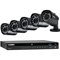 Lorex 8 Channel NR9082 4K Home Security System with 5 Weatherproof 4MP Bullet LNB4421B IP Cameras