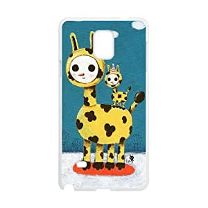 Samsung Galaxy Note 4 Cases Funny 12 for Teen Girls, Samsung Galaxy Note4 Cases for Men for Teen Girls [White]