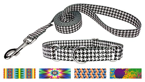 Country Brook Design Houndstooth Martingale Dog Collar & Leash - Small (Houndstooth Leash)