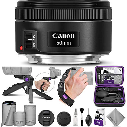 Canon EF 50mm f/1.8 STM Lens with Altura Photo Essential Accessory Bundle (Canon Camera Lens T3)