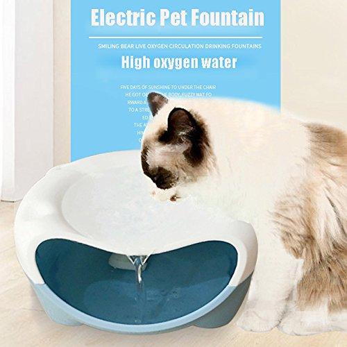Xigeapg Automatische Haustier Katze Hund Wasser Brunnen Stumm Pet Wasserspender Automatische Trink Schuessel Elektrische Brunnen Fuer Hund