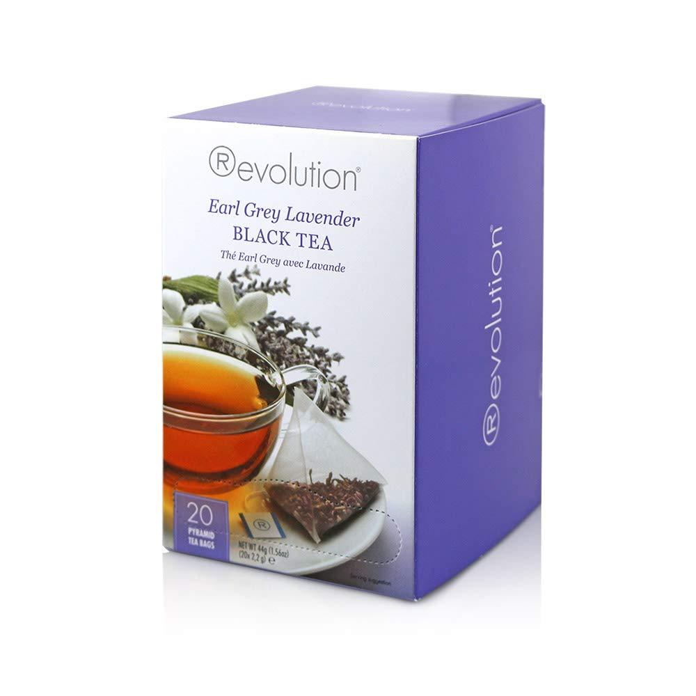 Revolution Tea Black Tea, Earl Grey Lavender, 20 Count (Pack of 6)