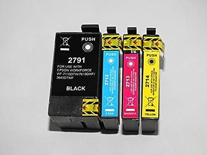 Pack 4 cartuchos de tinta compatible con Epson T279 – para impresoras de inyección de tinta Epson: Amazon.es: Informática