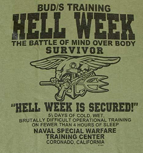 U S  Navy Seals Hell Week T-Shirt Devgru UDT Underwater Demolition Team  (X-Large) Military Green