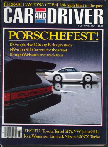 CAR & DRIVER Nissan 300ZX Turbo Jeep Wagoneer Ferrari Daytona road tests 2 -