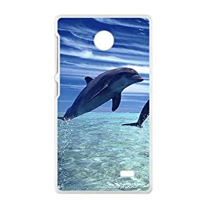 Jumping Dolphins White Phone Case for Nokia Lumia X