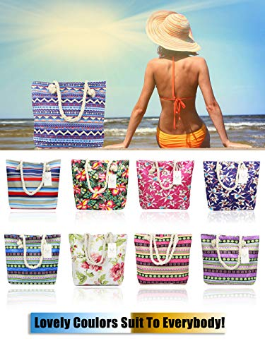 Canvas Shoulder Bags Flower Beach ElkIsComing Large Girls Holiday Women and Bag Shopping for Tote Ladies Bag bag Summer wIw0qCY