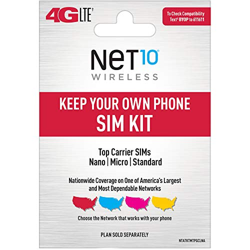 ($25 eGift Card Promotion) Net10 Keep Your Own Phone 3-in-1 Prepaid SIM Kit