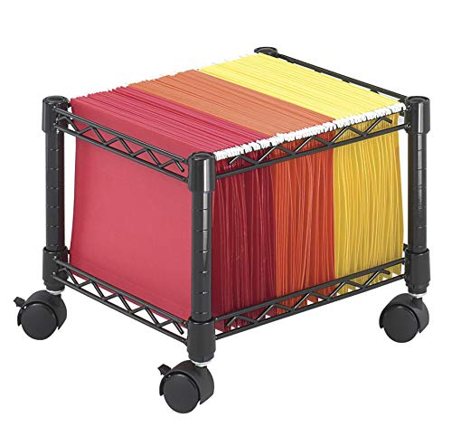 (Safco Products 5220BL Mini Wire File Cart, Letter or Legal Size, Black)