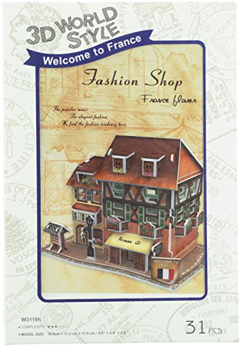 3D three-dimensional puzzle 3D World Style Series Fashion shop W3119h (japan import)