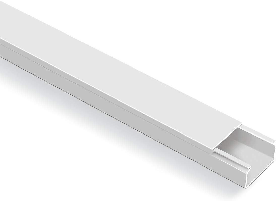 Canales para cables color blanco 20 m, autoadhesivos, con cinta adhesiva de espuma Blanco
