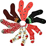 Christmas Socks, Gmall Novelty Thanksgiving Gift Holiday Casual Cool Dress Socsk for Men and Women