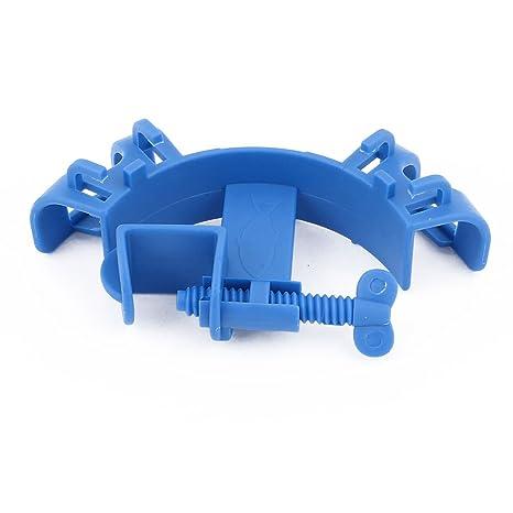 sourcingmap® Azul de plástico pecera acuario de agua de montaje Soporte tubo de la manguera
