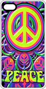 Peace & Peace Sign Clear Plastic Case for Apple iPhone 4 or iPhone 4s