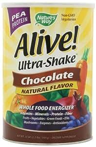 Amazon.com: Alive! Ultra Shake Pea Protein Shake Chocolate Flavor 2.2 LB Powder: Health
