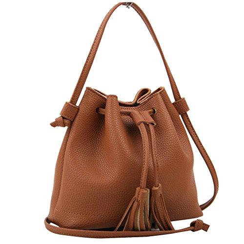 Copi Women's Everyday Bucket Bag & Cute Feminine Of Crossbody Small Bags Camel
