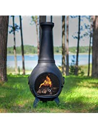 Aluminum Wood Prairie Chiminea Finish: Charcoal