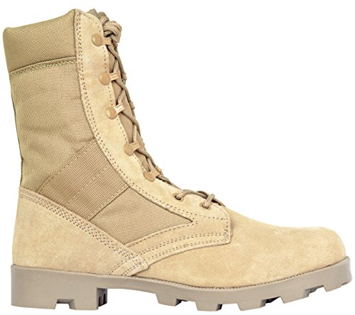 Image of the Men's 9 Inch Desert Tan Boots with Side Zipper for Work, Construction, Hiking, Hunting, Outdoors. Durable, Comfortable,True to Size. 6 Month Warranty (11 US, 45 EU)