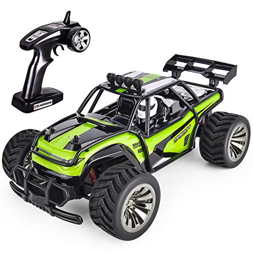 GotechoD Remote Control Truck RC Car Off Road 1:16 Scale Desert Buggy Vehicle 2.4GHz Radio Controlled High Speed Electric Race Truck Hobby Crawler with 2 Recharger Batteries 1 Screwdriver Green from GotechoD