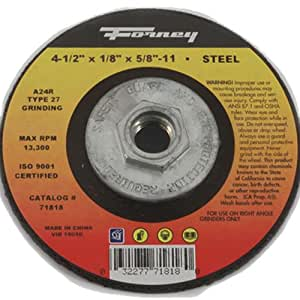 Amazon com: Forney 71818 Grinding Wheel with 5/8-Inch-11