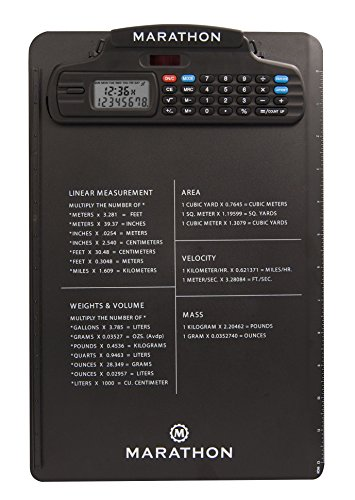 Marathon ST083016 Clipboard with Digital Timer and Calcul...