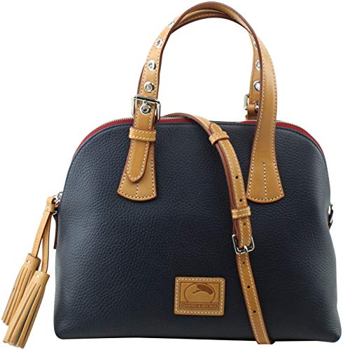 Bourke Leather (Dooney & Bourke Patterson Leather Small Audrey Top Handle Bag, Midnight Blue)