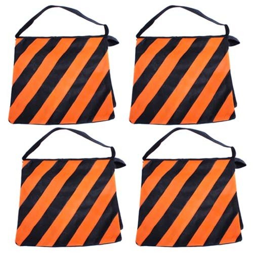 SouthbayCamera Orange SADDLEBAG SANDBAGS 4 NEW SAND BAGS HEAVYDUTY SADDLE BAG HOLDS 20LBS WEIGHT BAGS FOR PHOTO VIDEO STUDIO STAND by South Bay Camera