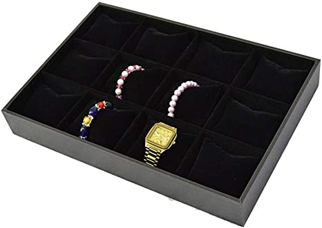 12 pcs Jewelry box pillows Watches Gift box pillows Black Velvet Jewelry display pillow for Bracelets