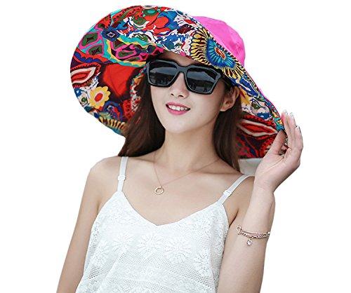 Large Rose Sun Hat - 7