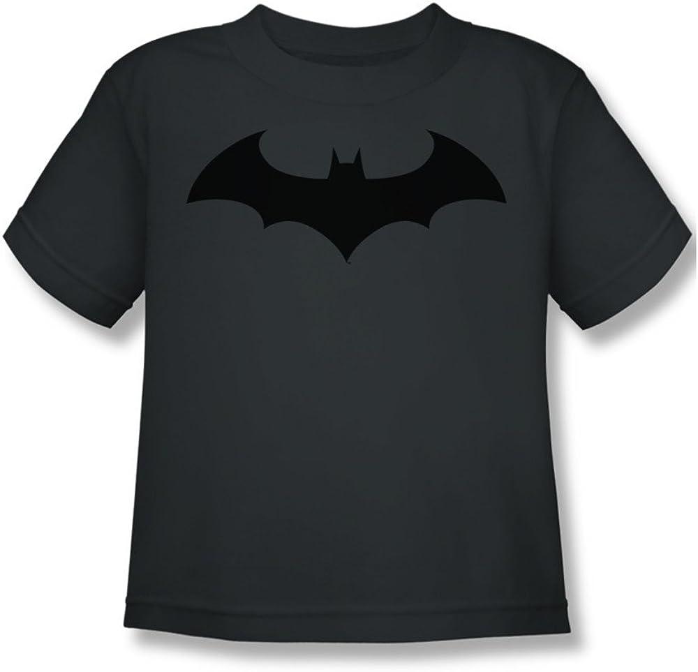 Charcoal44; Medium 5-6 Short Sleeve Juvenile 18-1 Tee Trevco Batman-Hush Logo