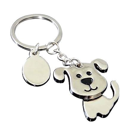 oyfel Metal llavero Trousseau port llave Belle perro forma coche recuerdo regalo colgante de accesorios