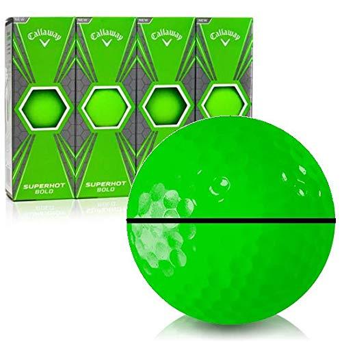 Callaway ゴルフ スーパーホット ボールド マットグリーン アライグXL パーソナライズゴルフボール   B07QTZ3N6V