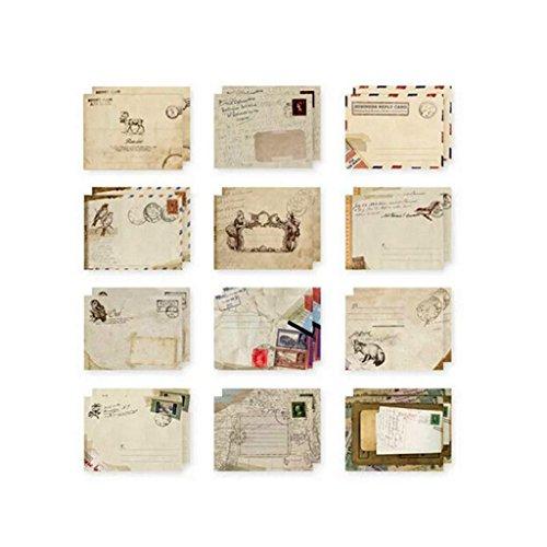 12 Stück/Satz Retro-Stil Design Büro Kinder Ferienschreibwaren Mini Papier Alter Umschlag