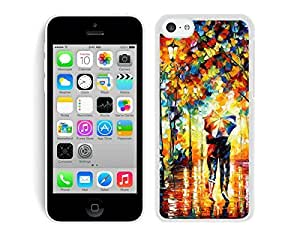 Case,Iphone,Amazon,Belt Clip and Case Combo,Rain Day Street iPhone 5C Case White Cover
