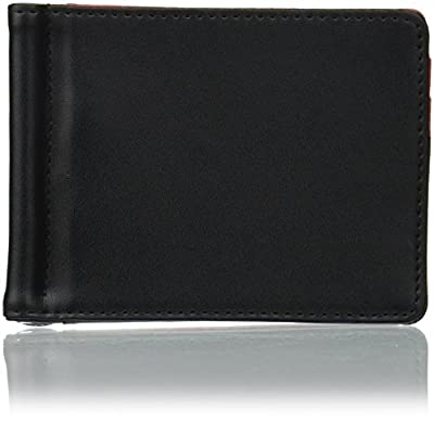 TROIKA RED Pepper - MYC22/LE - Money Clip Wallet and Card case - Metal Clip - 6 Pockets for Credit Cards - one External Pocket - Leather/Imitation Leather - Black, red - TROIKA-Original